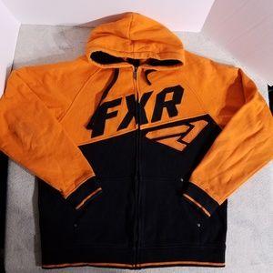 FXR Outdoor/Racing Orange & Black Zip-Up Hoodie